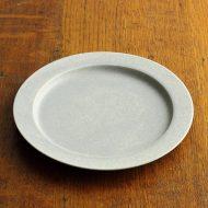 y1192-70-1 φ19.3x1.8水色まだらリム皿(iihoshi)
