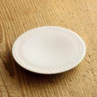 y1202 縁レリーフ白皿  A(生形 由香)