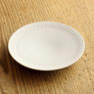 y1204 縁レリーフ白皿 C(生形 由香)