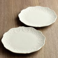 y1511 M.STYLE 唐草レリーフケーキ皿