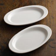 y1515 UP 白ツバ楕円皿