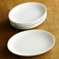 y1517-10-5 16.3x12.5白楕円皿