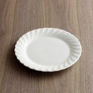 y1527-30-1 φ19.4nikko 白磁ふちなみケーキ皿
