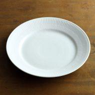 y1598-75-1 φ19.2ロイコペホワイトフルーテッドケーキ皿