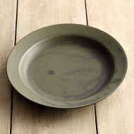 y2005-60-1 φ17.5OXYMORON オリーブ皿(rumiko iihoshi)