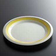 y2017-100-2 φ20.0ARABIA黄ラインビンテージ皿