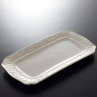 y2088-60-1 30.3x15.8Flineグレー長皿