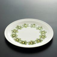 y2089-200-1 φ23.4ARABIA アンティーク緑花柄皿