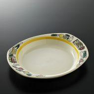y2098-60-1 25.5x21.8x3.5Slauangerffint野菜柄楕円皿