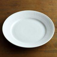 y2424-75-1 φ22.0ロイコペホワイトフルーテッドデザート皿