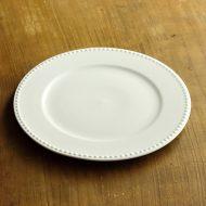 y2428-65-1 φ20.2POMAX白縁エンボスケーキ皿