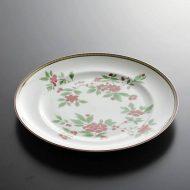 y2579-100-1 φ27.5赤/緑花柄ディナー皿 VA