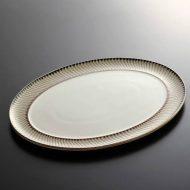 y2635-100-1 37.4x27.4DENBY柄入り楕円皿