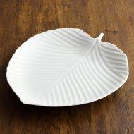 y2831-80-1 28.5x25.0KURIHARA白磁みずき大皿