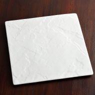 y2841-95-1 26.6x26.6白つや石風凹凸大角皿