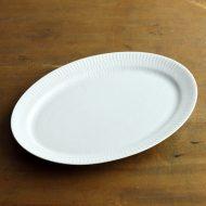y2863-80-2 28.0x20.5ロイコペホワイトフルーテッド楕円皿