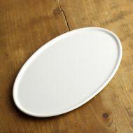 y2869-80-1 31.7x19.3白磁フラット楕円皿