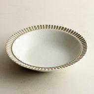 y4006-45-1 φ18.4x4.0LiveLabo ストーン縁ラインスープ皿