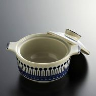 y4180-60-4 φ14.5x11.3x8.2Nagoya Shokai 紺柄両手つきスープ