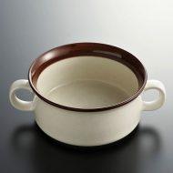 y4253-25-1 15.2x11.2x5.1茶ラインスープカップ