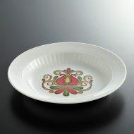 y4320-60-1 φ22.3x3.4WINTERLING 花柄スープ皿