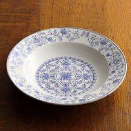 y4321-60-1 φ23.6x4.2SAXANIP 花柄スープ皿