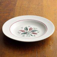 y4329-60-1 φ23.6x3.0白リムハチの巣柄スープ皿