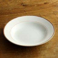 y4384-45-1 φ23.0x3.8TOYOTOKI オレンジラインパスタ皿