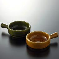 y4525-20-2 12.0x8.6x3.2手つきココット オリーブ/茶