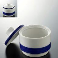 y6002-45-1 φ8.5x8.4白青ラインシュガーポット