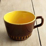 y6013-50-1 16.3x9.2x6.0アンティーク茶中黄マグ