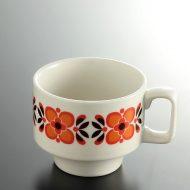 y6033-45-1 10.5x7.8x6.5KRIMSマグカップオレンジ花