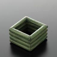 y6509-15-2 4.5x4.5x3.0木製緑四角ナフキンリング