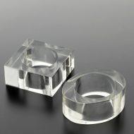 y6510-15-2 ダエン5.5x2.3x2.3 カク4.5x4.5x2.2透明アクリルナフキンリング 楕円 四角