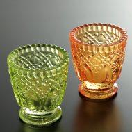 y6525-20-2 φ6.7x7.5色ガラスキャンドルグラス