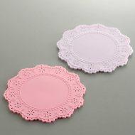 y8017-10-2 φ9.7ウレタン花型コースターピンク ムラサキ