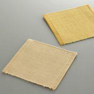 y8026-15-2 10.5x10.5綿厚織り角コースター からし色 ベージュ