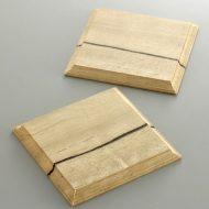 y8054-20-3 9.5x9.5木製木目入り角コースター