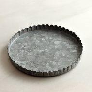 y9016 ブリキ縁飾り皿